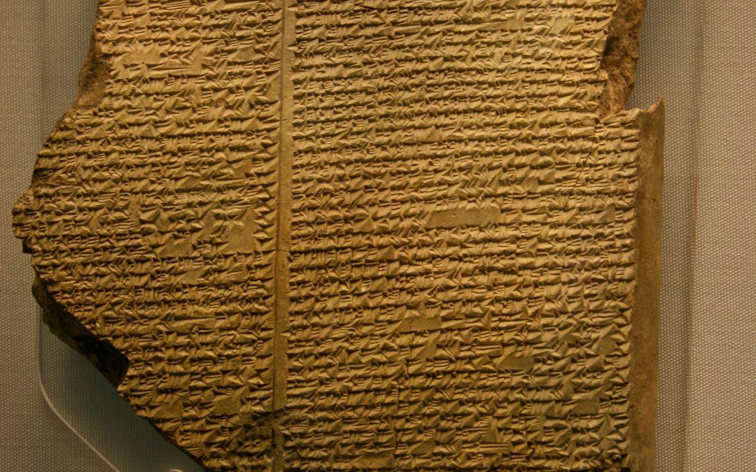 La creación de Enkidu, desde el barro, en «La Epopeya de Gilgamesh»